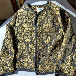 Old Navy gold and black embroidered jacket